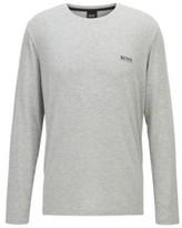 Boss Crew-neck pyjama top in stretch modal