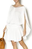 Z&L Europe White Beaded Mini Dress