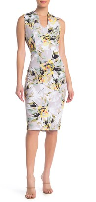 Nina Leonard U-Neck Sleeveless Midi Dress