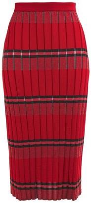 Marni Striped Ribbed-knit Midi Pencil Skirt