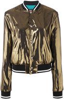 Just Cavalli metallic bomber jacket