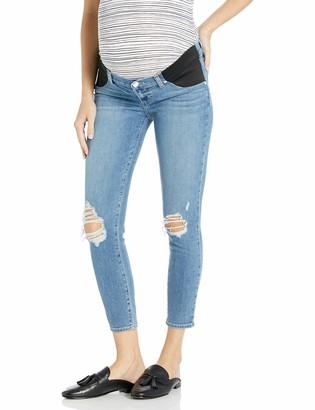 Paige Women's Maternity Verdugo Transcend Vintage Mid Rise Crop Jean