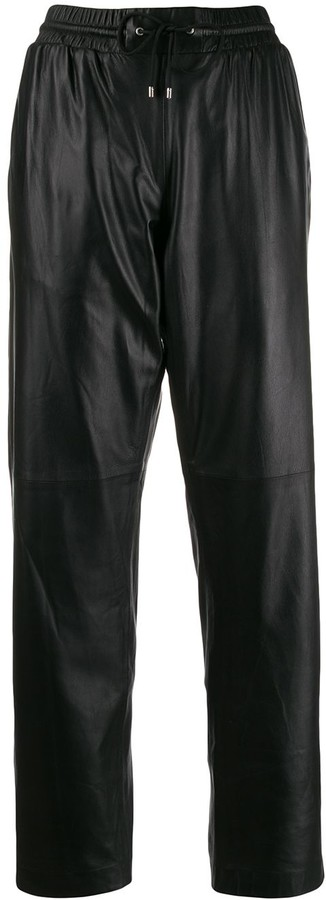 Kenzo leather track pants
