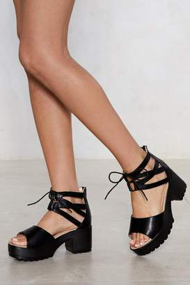 Nasty Gal Womens That Don'T Tie With Me Strappy Sandal - Black - 3
