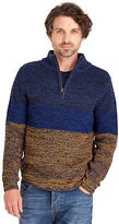 Joe Browns Men's Thick Funnel Knit Pull over Jumper with zip