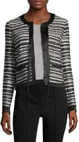 Roberto Cavalli Women's Striped Boucle Blazer