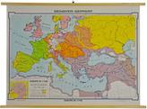 Rejuvenation Mid-Century Denoyer-Geppert European Map c1960s