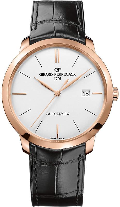 Girard Perregaux GIRARD-PERREGAUX 49555-52-132-BB60 1966 alligator-leather and 18ct rose-gold watch