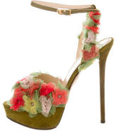 Charlotte Olympia Suede Platform Sandals