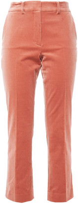 Frame Perfect Cropped Cotton-blend Velvet Slim-leg Pants