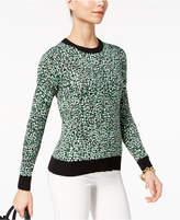 MICHAEL Michael Kors Printed Ribbed-Contrast Sweater