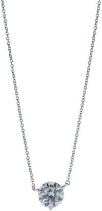 Kwiat Platinum Solitaire Diamond Pendant Necklace