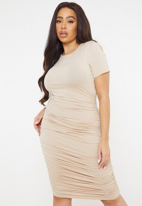 Missguided Plus Size Stone Ruched Side Bodycon Dress