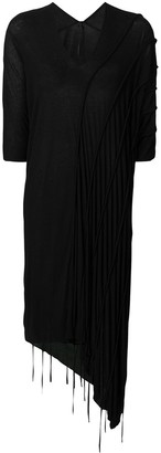 Masnada Draped Midi Sweater Dress