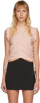 Alexander Wang Pink High Twist Side Tie Tank Top
