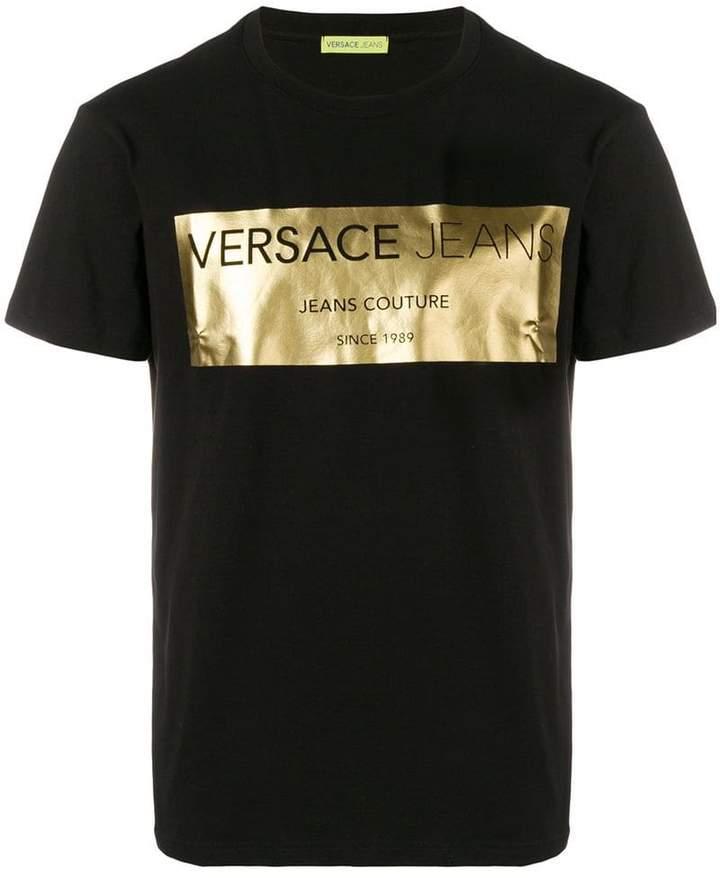 Versace metallic logo print T-shirt
