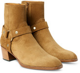 Saint Laurent Wyatt Suede Harness Boots