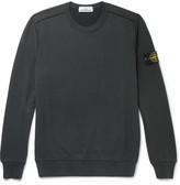 Stone Island Fleece-Back Cotton-Jersey Sweatshirt