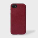 Paul Smith Burgundy Saffiano Leather iPhone 7 Case