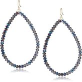 Yochi Blue Faceted Glass Bead Earrings