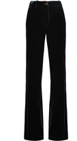 Roberto Cavalli High-rise wide-leg velvet trousers