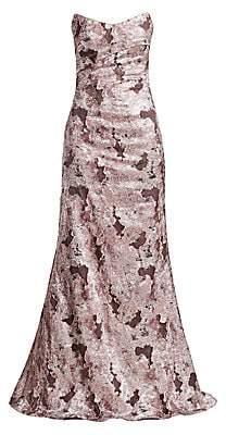 Rene Ruiz Collection Women's Fil Coupé Strapless Mermaid Dress