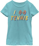 Fifth Sun Tahiti Blue 'I Love Tennis' Tee - Girls