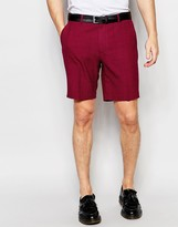 Asos Smart Skinny Shorts In Red Check