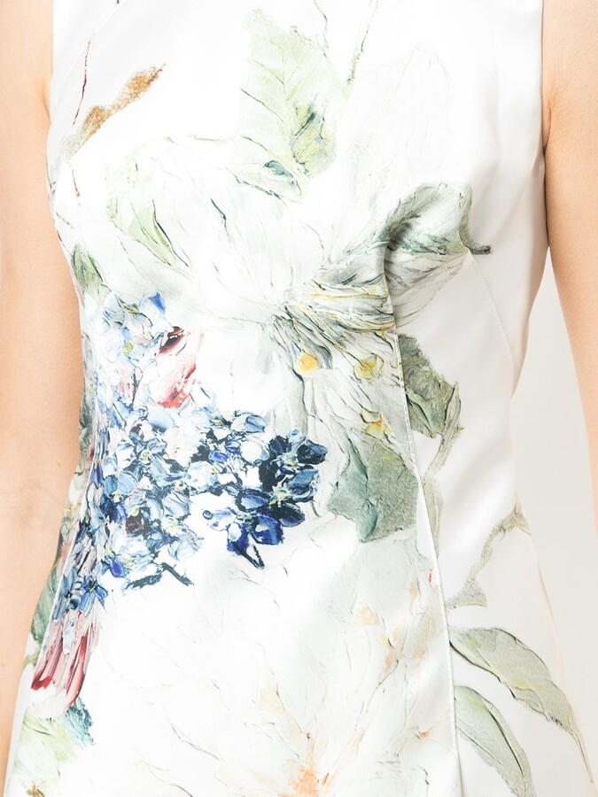 Rubin Singer Printed Cocktail Dress Shopstyle