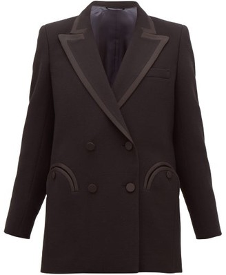 BLAZÉ MILANO Resolute Double-breasted Wool-crepe Blazer - Womens - Black