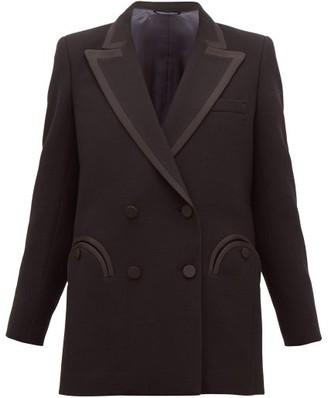 BLAZÉ MILANO Resolute Double-breasted Wool-crepe Blazer - Womens - Black