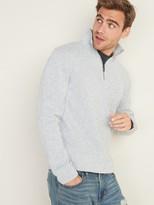 Old Navy Mock-Neck 1/4-Zip Sweater-Fleece Pullover for Men