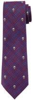 Alexander McQueen Prince of Wales Skull-Print Silk Tie