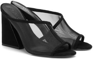 Mercedes Castillo Lathasa suede and mesh sandals