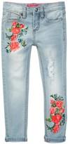 Betsey Johnson Screen Print Skinny Cuffed Jean (Little Girls)