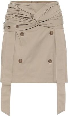 Rokh Cotton-gabardine miniskirt