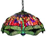 Tiffany & Co. Warehouse of Style Stained Glass Dragonfly Ceiling Lamp