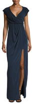 The Jetset Diaries Gathered V-Neck Gown