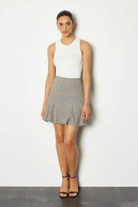 Karen Millen Check Flippy Short Skirt