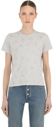 Balenciaga EIFFEL TOWER EMBELLISHED COTTON T-SHIRT