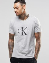 Calvin Klein T-shirt Short Sleeve Logo In Slim Fit