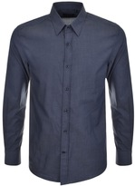 Antony Morato Long Sleeved Slim Fit Shirt Blue