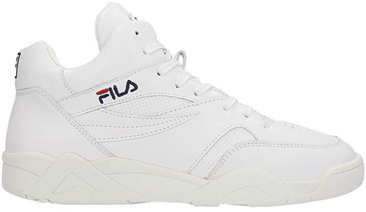 Fila Pine Mid White Leather Sneakers