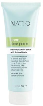Natio Acne Detoxifying Face Scrub with Jojoba Beads