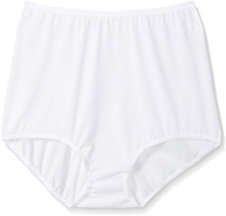Shadowline Women's Plus-Size Panties-Seamless Nylon Brief (3 Pack)