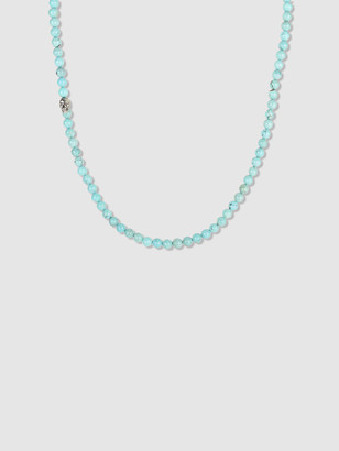 Degs & Sal Sterling Silver & Turquoise Beaded Necklace