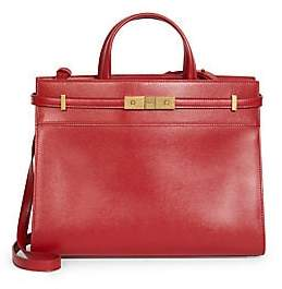 Saint Laurent Women's Small Manhattan Leather Satchel