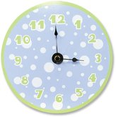 Trend Lab 100058 Blue-Sage Clock Blue Dot- Sage Numbers & Border