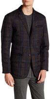 Vince Camuto Plaid Two Button Notch Lapel Jacket