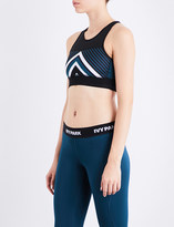 Ivy Park Chevron jersey cropped top
